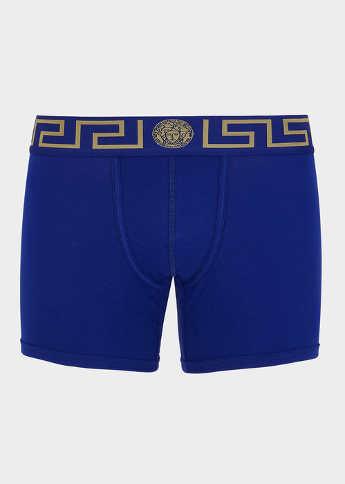 Versace Medusa Boxer Shorts In Blue