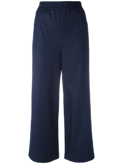 I'M ISOLA MARRAS CROPPED TROUSERS, BLUE