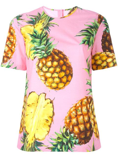 DOLCE & GABBANA Pinapple Print T-Shirt