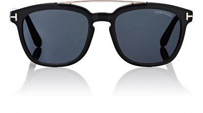 TOM FORD MEN'S HOLT BROW BAR SQUARE SUNGLASSES, 50MM, BLACK