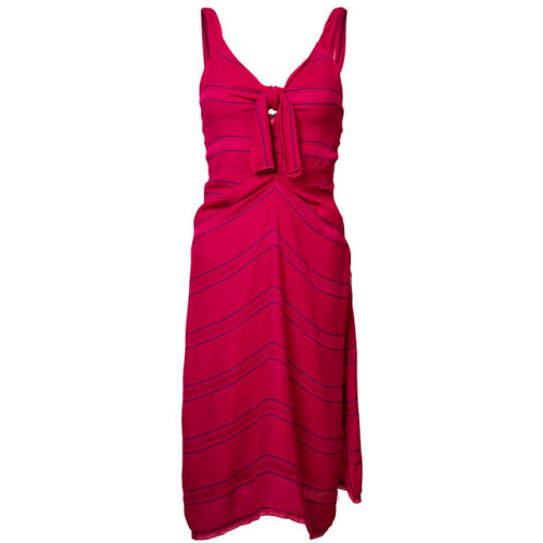 Proenza Schouler Silks fine-stripe day dress