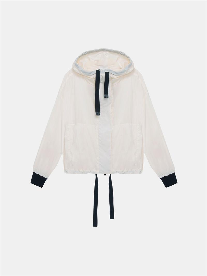 Dkny Jackets DKNY Pure Hooded Jacket With Drawcords