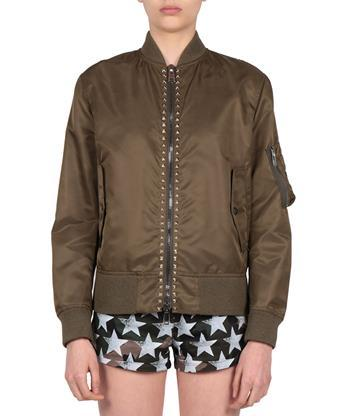 Valentino Cottons Rockstud Bomber jacket