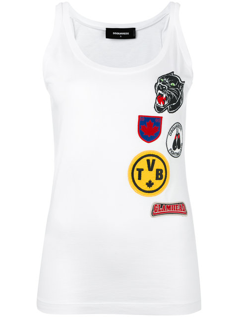 Dsquared Patch Embroidered Tank Top
