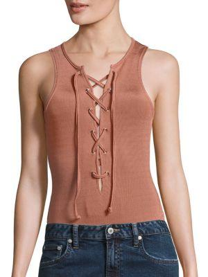 Nile Lace-Up Bodysuit