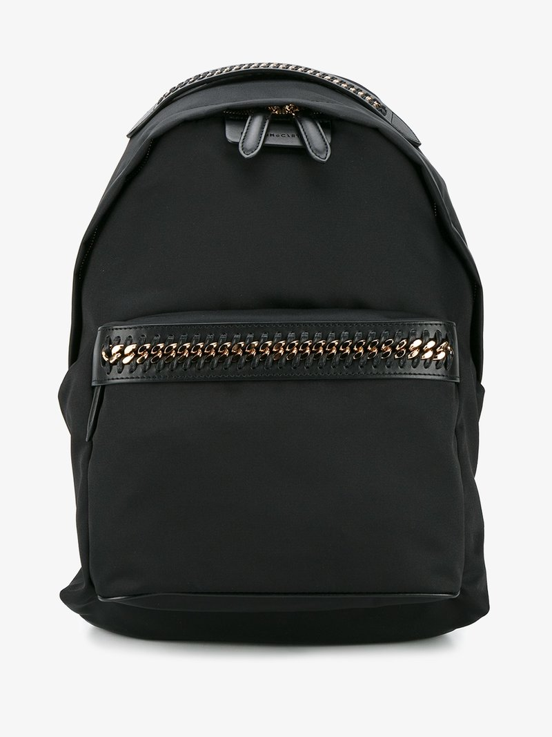 FALABELLA NYLON BACKPACK - BLACK