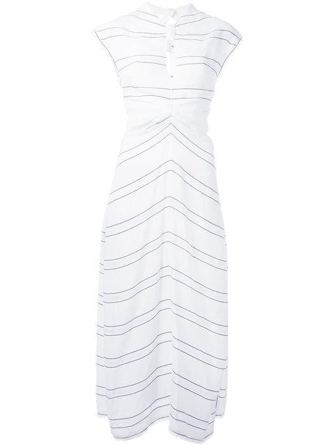 Proenza Schouler Silks knot fastening dress