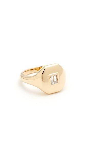 Essentials Diamond & 18K Rose Gold Pinky Ring