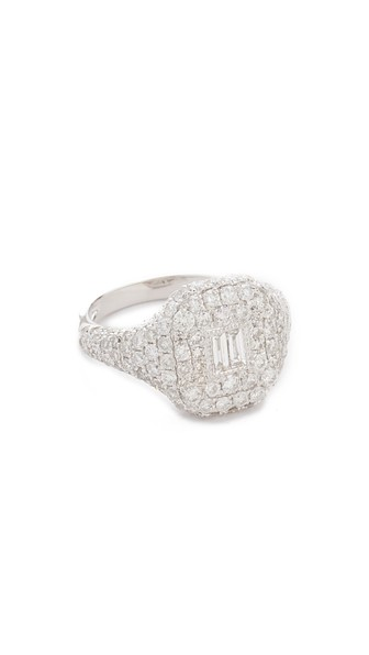 18K WHITE GOLD PAVE ESSENTIAL DIAMOND PINKY RING