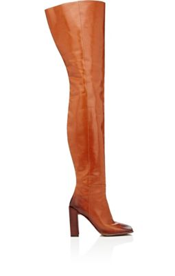 Quadro square-toe leather boots