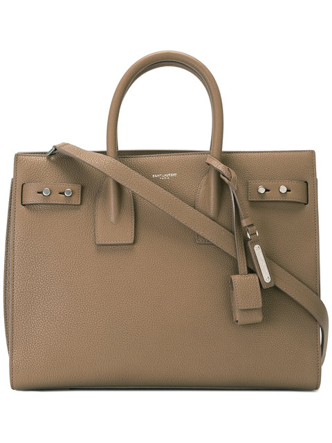 NANO SAC DU JOUR LEATHER TOTE - BROWN