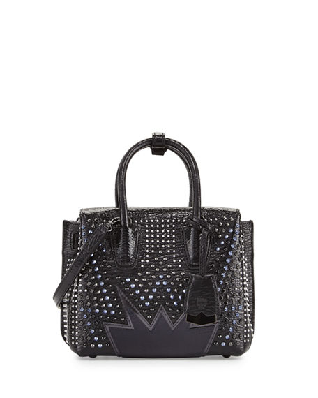 MILLA MINI CYBER STUDS TOTE BAG, BLACK