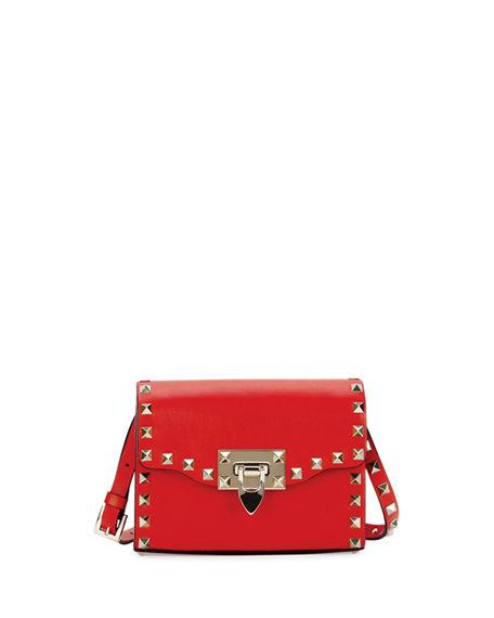 Valentino Shoulder bags ROCKSTUD MINI LEATHER FLAP SHOULDER BAG