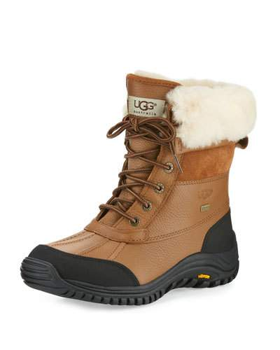 Adirondack II Lace-Up Shearling-Lined Leather Boots