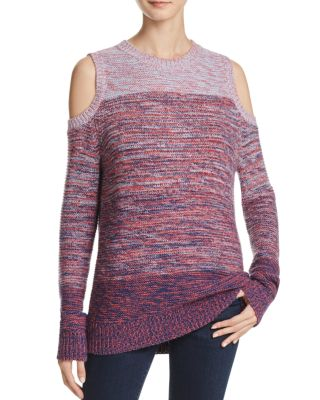 Page Wool Blend Cold Shoulder Sweater