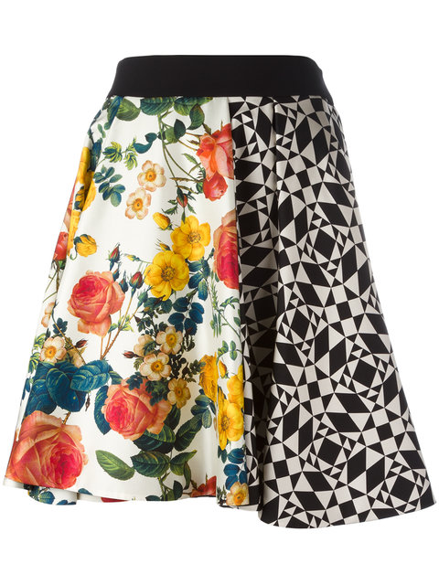 Gonna Geometrica Fiori skirt