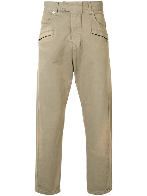 BALMAIN MENS TROUSERS, BROWN
