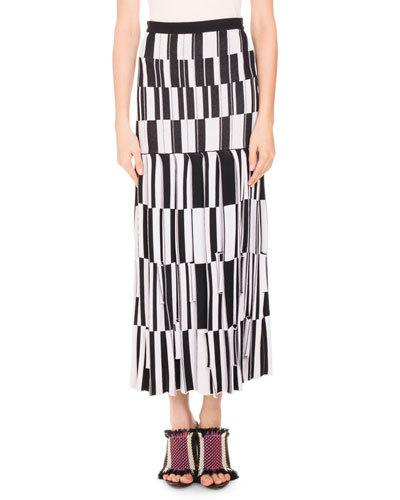 Proenza Schouler Pleated skirts PLEATED JACQUARD MAXI SKIRT