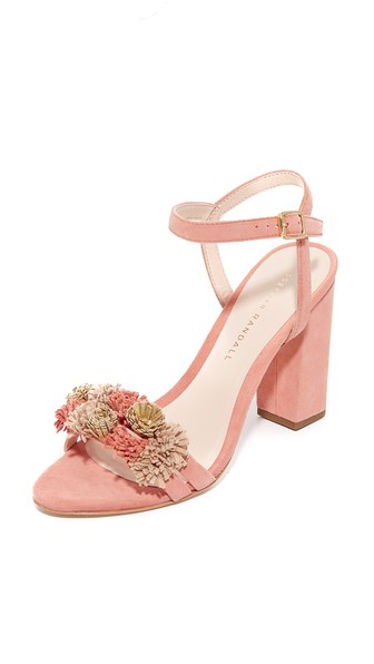 WOMAN LAYLA TASSEL-TRIMMED SUEDE SANDALS PINK