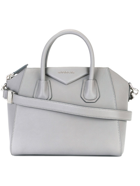 Antigona small textured-leather tote