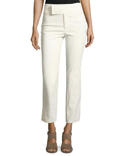 Isabel Marant Cottons WIDE-WAIST SLIM CROPPED PANTS