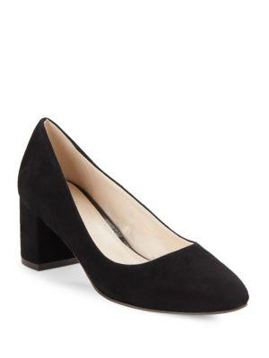 Justine Suede Block Heel Pumps