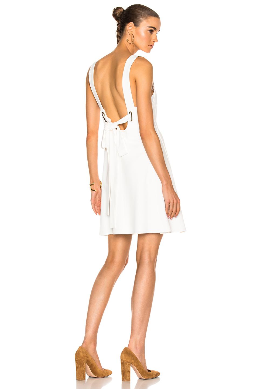 Chloé Silks LIGHT CADY DRESS IN WHITE.