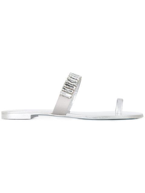 Giuseppe Zanotti Leathers toe strap sandals