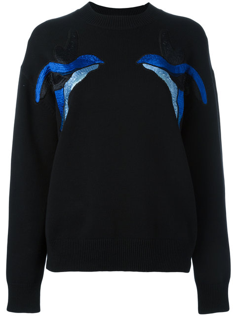 BIRDS EMBROIDERY JUMPER