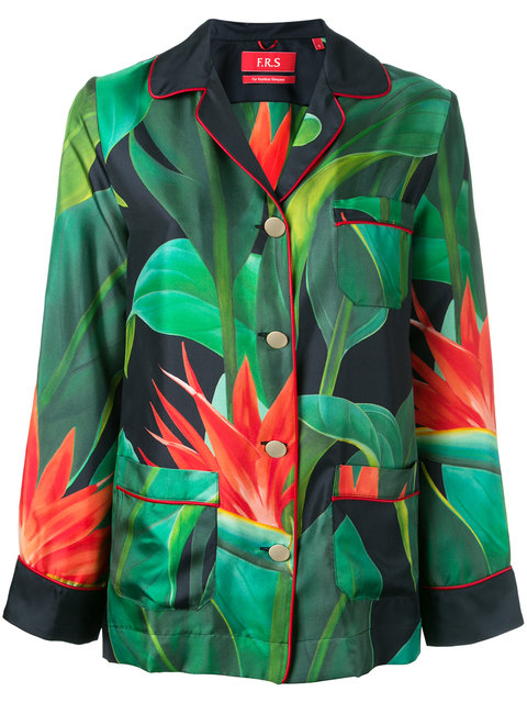 Rea printed silk-twill shirt