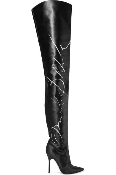 Women's Manolo Blahnik Signature Thigh High Boots in Black