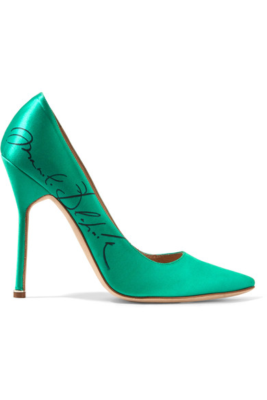 Women's Manolo Blahnik Signature Stiletto Heeled Pumps in Green