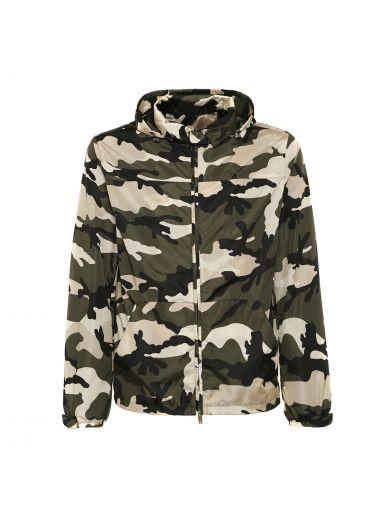 VALENTINO Valentino Camouflage Hooded Jacket