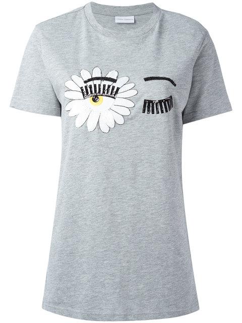 eye print T-shirt