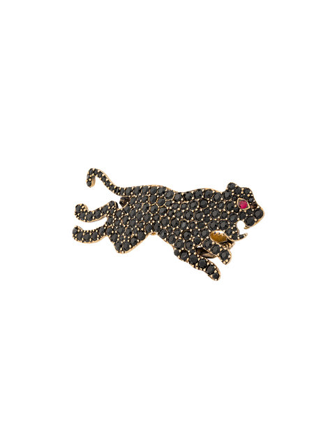 Gucci Multi-Finger Ring With Tiger, Multi, Black