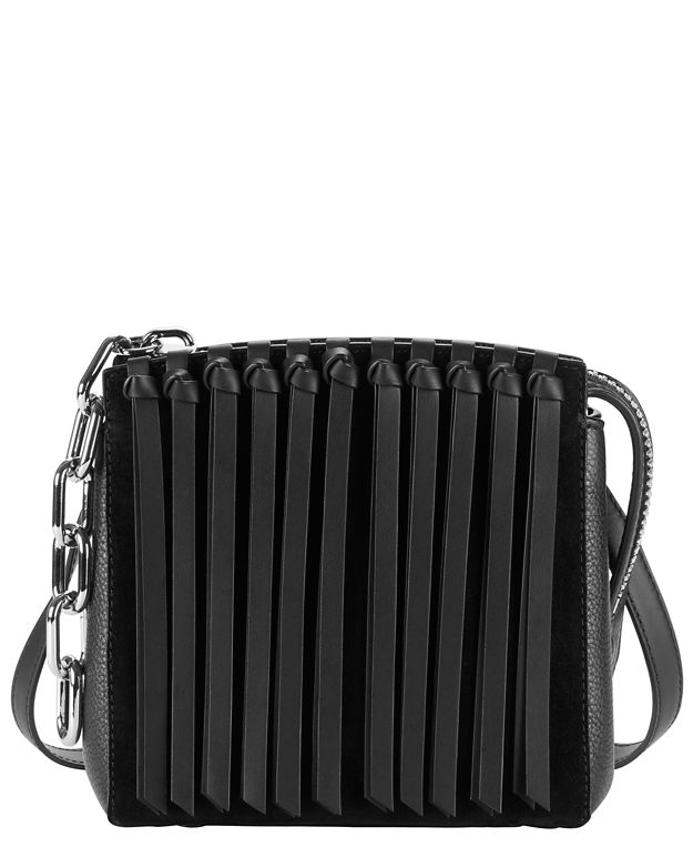 Alexander Wang Canvases Attica Small Fringe Leather Satchel