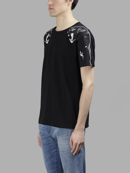 VALENTINO Panther Printed Cotton Jersey T-Shirt, Black