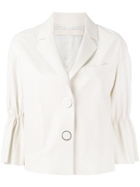 Drome peplum sleeve buttoned jacket