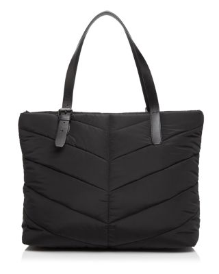 EMMI QUILTED DIAPER BAG - BLACK