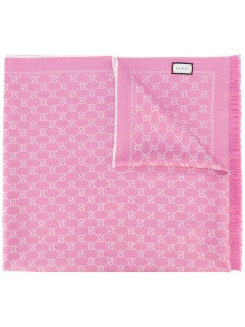 GG jacquard shawl