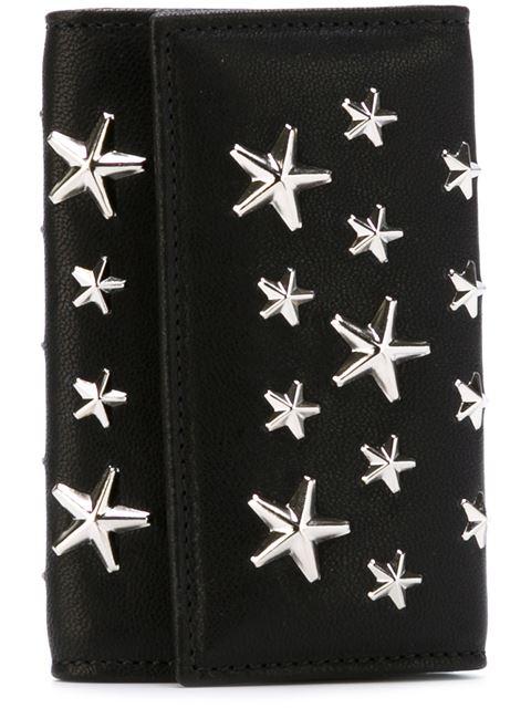 NEPTUNE Black Leather Key Holder with Stars