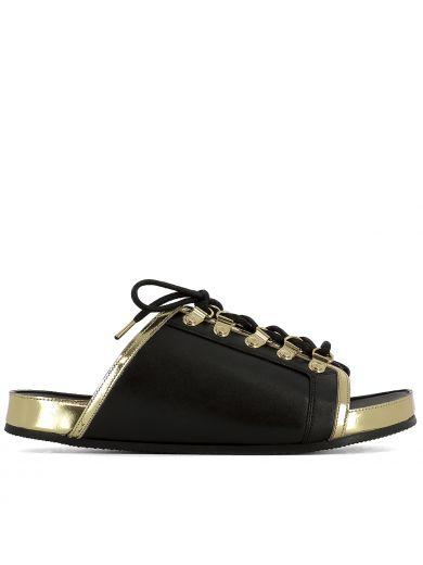 Balmain Leathers Black Leather Sandals