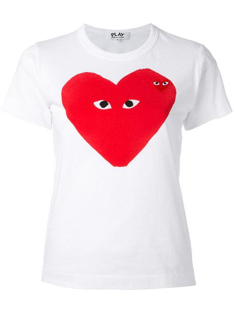 Comme Des Garçons Play HEART PRINT T