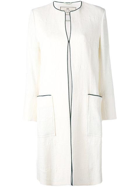 collarless pocket coat