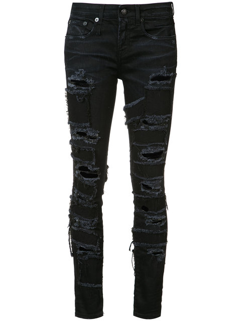 Alison patch skinny jeans