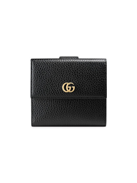 804dc0eb76c9 GUCCI LEATHER FRENCH FLAP WALLET