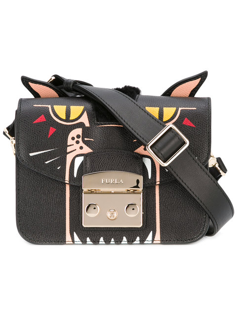 Metropolis Jungle Panther Mini Crossbody Bag