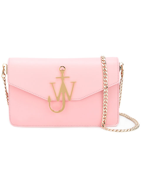 LOGO PURSE LEATHER SHOULDER BAG
