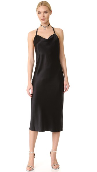 COWL NECK BIAS SLIP DRESS