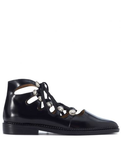 Toga Toga Pulla Black Shiny Leather Shoes